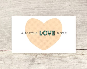 MINI! Little love notes, business card size
