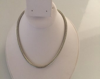 Snake Chain Necklace with Bead Pin & Extender Chain