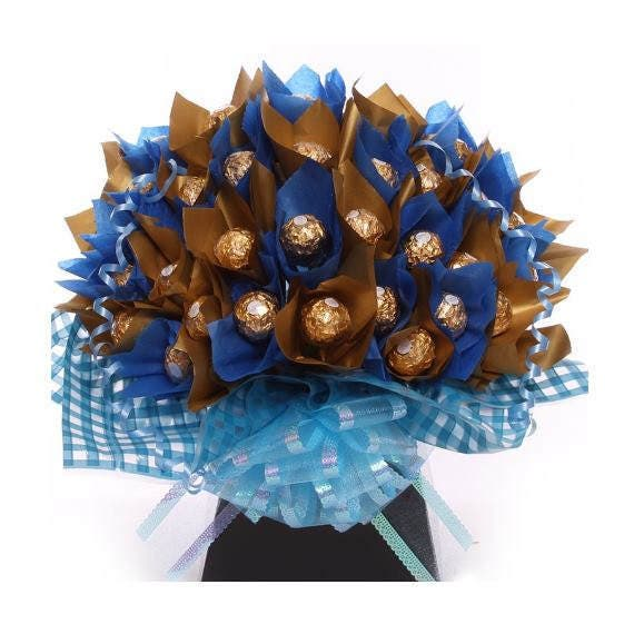 Chocolate bouquet for Him Ferrero Rocher Chocolate Bouquet in