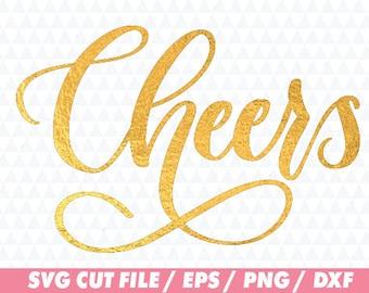 Cheers svg, Cheers cricut, Christmas svg, Christmas cricut, Lettering svg, Word svg, Flourish svg, Word cricut, Flourish cricut, Cut file
