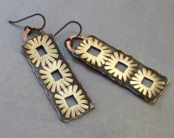 Unique Artisan Earrings, mixed materials 288