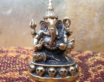 Ganesh Statue Meditation Altar Tiny Ganesha Statue Portable Altar Deity Statue  Pocket Shrine Hindu God Wisdom Wealth Success Gift Under 15