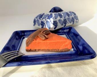 Soapy Pecan Pumpkin Pie Slice Soap -Cowtail Soap Bar