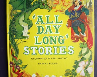 Read Again Series 'All Day Long' Stories  Brimax Books illustrated by Kincaid – Vintage Children's Book 1979 HC