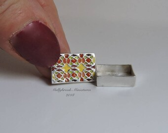 Fine Silver 12th Scale Enamelled Box