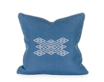 Diamond Woven Brocade Pillow. Guatemala. Artisan made. Cotton.