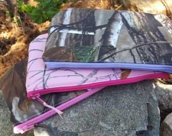 Camo Cosmetic Bag, Camo Makeup Bags, Purse Organizer, Camo Pencil Pouch, Feminine Pouch, School Organizer