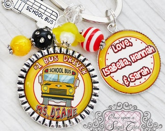 BUS DRIVER GIFT, Keychain, School Bus Driver Key Chain, School Appreciation, School Bus, #1 Bus Driver, School Bus Driver Gift, Keychain