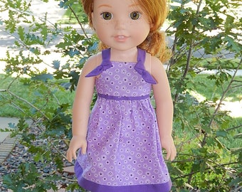 Purple Sun Dress to fit 14.5 inch Dolls such as Wellie Wishers