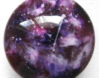 Custom made One of a Kind Furniture and Cabinet Knobs-Purple  Galaxy