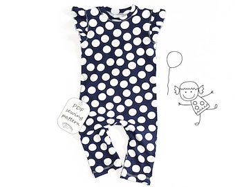 Baby romper pattern PDF, baby romper sewing patterns, sewing patterns pdf