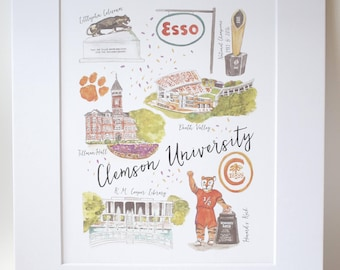 Clemson University Illustration Print