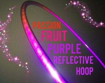 """Passionfruit Purple Reflective HDPE or Polypro 5/8"""" 3/4"""" Dance & Exercise Hula Hoop - NOT an LED hoop"""