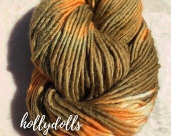 Olive * hand-dyed merino yarn