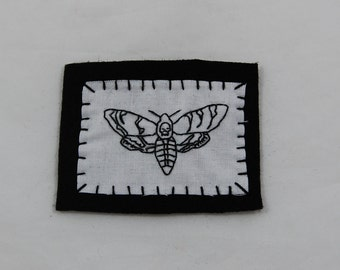 Death's Head Moth Embroidered Patch