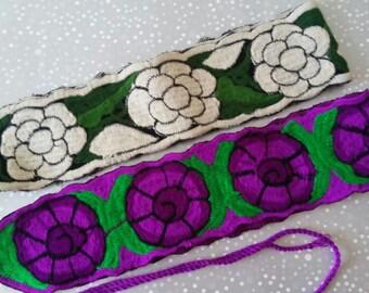 Hand Embroidery mexican Belt, Frida Kahlo clothing, Mexican belt, Frida Kahlo accesorie, Frida Kahlo belt, Boho belt, Folk belt, Flower belt