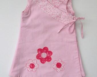 Reversible Girl's Wrap Dress