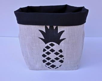 Pineapple medium fabric storage basket