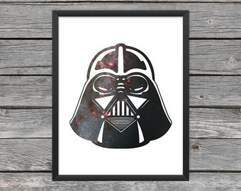 Darth Vader Poster Darth Vader Print Darth Vader Art Darth Star Wars Art Star Wars Print Outer Space Art Galaxy Art Nebula Art Download