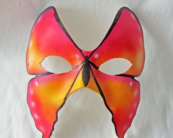 Tequila Sunrise Butterfly Mask