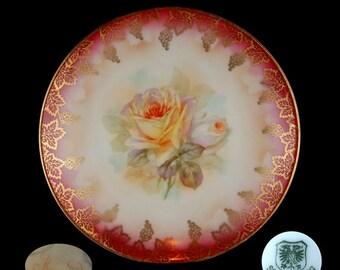 Vintage Schwarzburg Individual Floral Dessert/Salad Plate