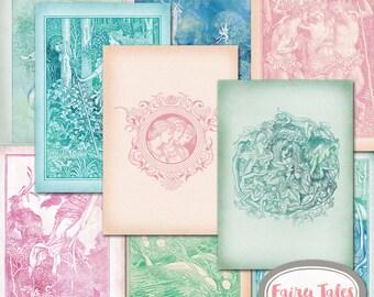 Fairy Tale Journal Kit - Printable Journal Kit - DIY Fairy Tale Journal Kit - Vintage Fairy Tale Images Journal Kit Journal Cards, Ephemera