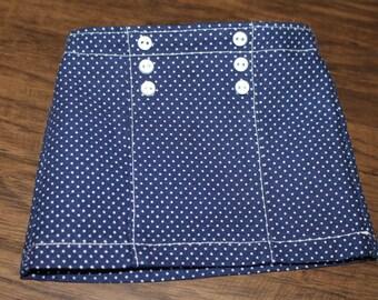 Navy And White Nautical Skirt