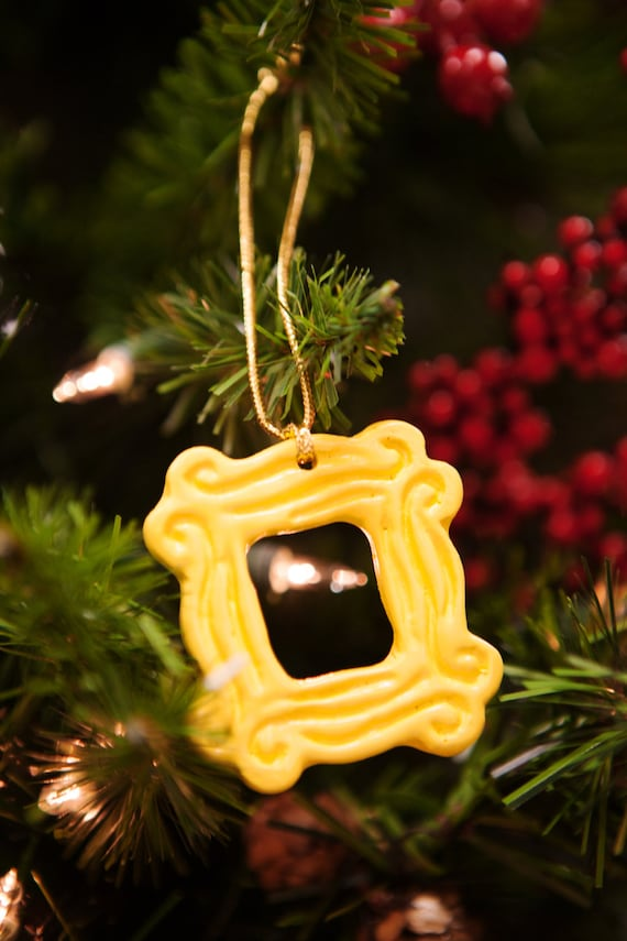 Yellow Peephole Frame Ornament 2.25 x 2.25 inspired by