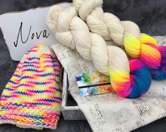 Nova - Hand Dyed Superwash Sock Yarn