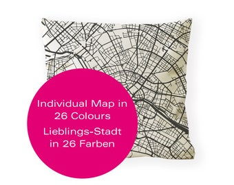 Custom Map Pillow, Custom City Cushion, Personalized wedding gift, Choose Your Map Print, Personalised Pillow, Gift Idea, Individual Gift