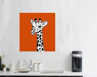 giraffe Art Giraffe Painting Giraffe Print Baby giraffe Watercolor Baby Painting Baby Nursery Art Children safari Animal Jungle Creature