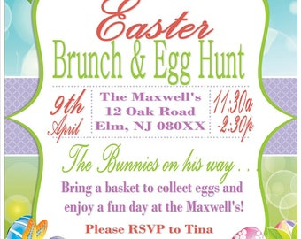 easter brunch and egg hunt