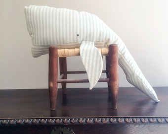 Ticking Whale Oversized Pillows