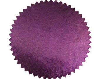 Purple Foil Seal Labels, 2 inch diameter, Pack of 40. Spruce up your awards, certificates, documents and art projects.