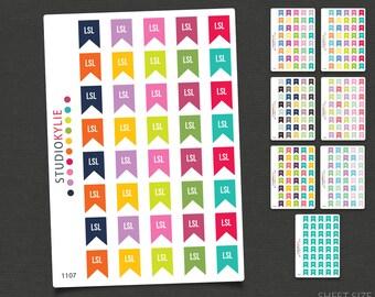 LSL -  Long Service Leave Planner Stickers  - Repositionable Matte Vinyl