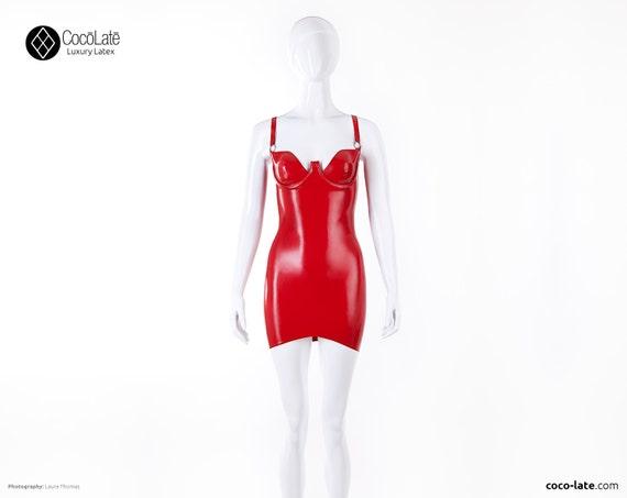 Casandra Cup Latex Mini Dress