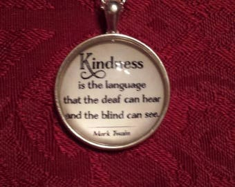 Kindness Twain quote necklace