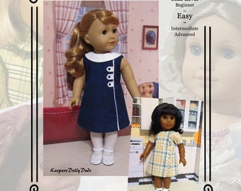 """PDF Pattern KDD23 """"Town & Country""""- An Original KeepersDollyDuds Design, Fits most 18"""" Doll Clothes"""