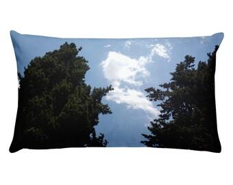 Sky & two trees - Rectangular Pillow