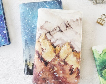 PU Watercolor Traveler's Journal Notebook Journal Planner Journal Insert Planner Insert Hand Book