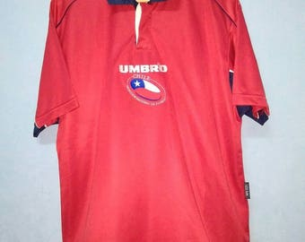 On Sale 15% Jersey Chile // Umbro Jersey / Size L / Rare Collection /
