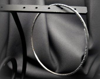 Hand Forged Hammered Sterling Silver Embrace Bangle Bracelet E