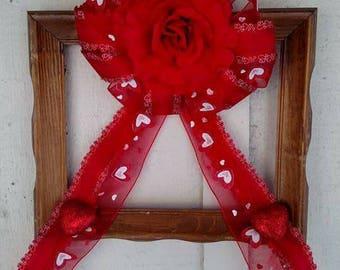 Custom made frame wreaths.