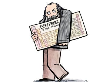 Dmitri Mendeleev and the Periodic Table of Elements Print