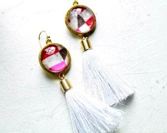 Valentine's Day GiftTassel Earrings Boho Chic Earrings Bohemian Earrings Bohemian Jewelry Geometric Earrings