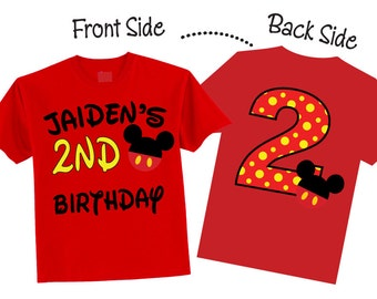 2nd Birthday Boy Shirts and Tshirts for Second Birthday, Third Birthday on RED