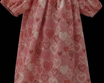 Valentine's Day Peasant Dress