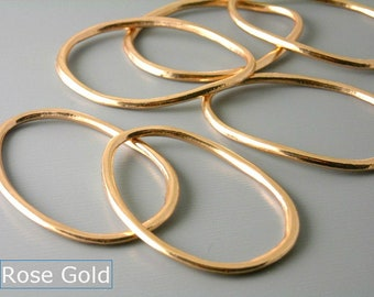 LINK-MX-38X28 - Large Drop Shaped Hoops - 5 different finishes - 4 pcs