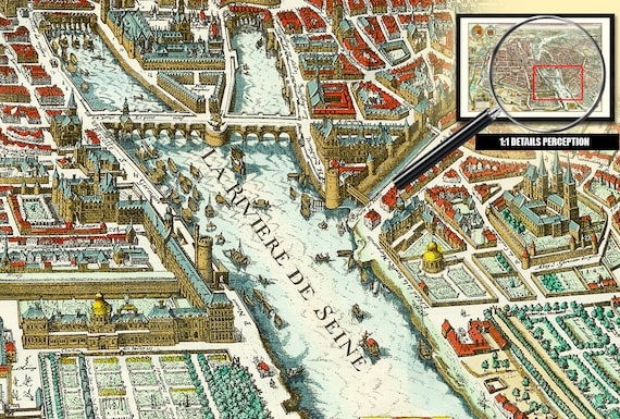 old map of paris 1615 plan of the city city university and suburbs of paris with the description of its antiquity