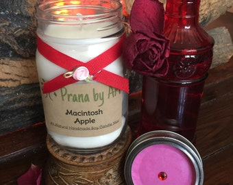 Macintosh Apple Scented Candle - 16 oz Candle | Scented Soy Candle | Apple Candle | Candle Handmade | Candle Gift |